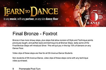 5th Avenue Dance Final Bronze Foxtrot 1