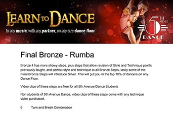 5th Avenue Dance Final Bronze Rumba 1