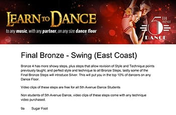 5th Avenue Dance Final Bronze Swing 1