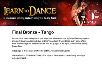 5th Avenue Dance Final Bronze Tango 1