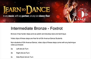 5th Avenue Dance Intermediate Bronze Foxtrot 1