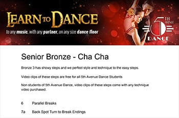 5th Avenue Dance Senior Bronze Chacha 1