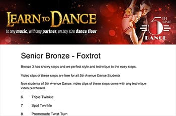 5th Avenue Dance Senior Bronze Foxtrot 1