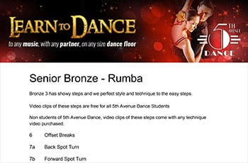 5th Avenue Dance Senior Bronze Rumba 1