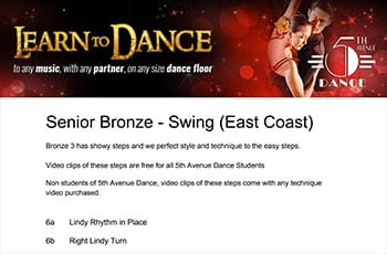 5th Avenue Dance Senior Bronze Swing 1