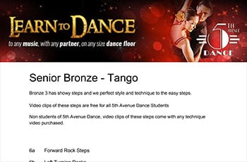 5th Avenue Dance Senior Bronze Tango 1