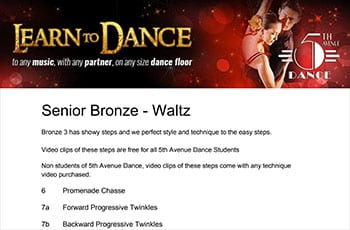 5th Avenue Dance Senior Bronze Waltz 1