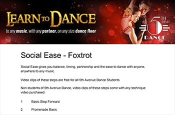 5th Avenue Dance Social Ease Foxtrot 1